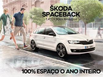 Adquira o seu Skoda Spaceback por 170 euros/mês*