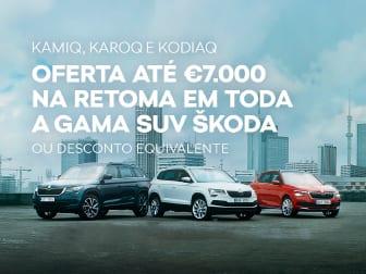 Mais 7.000€* de retoma na gama SUV Škoda